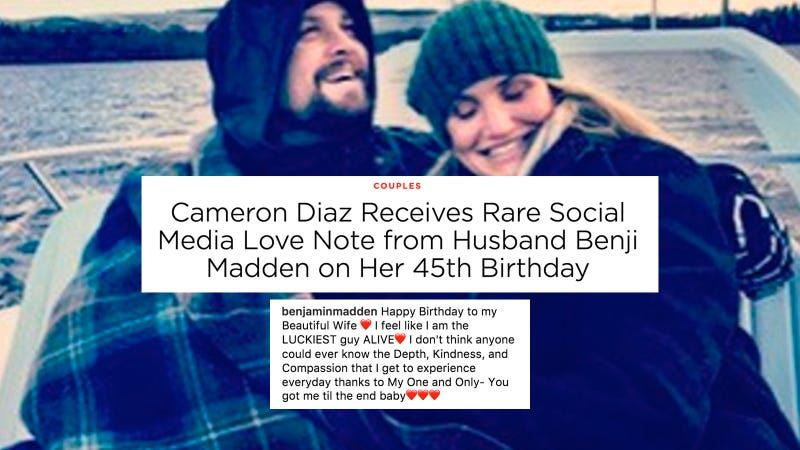 Benji Madden Wishes Cameron Diaz Happy Birthday On Instagram People Rejoices