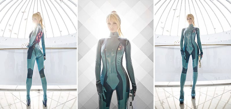 Illustration for article titled Zero Suit Samus Cosplay Is Excellent