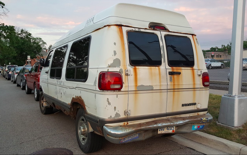 Illustration for article titled Not Even Rust Can Stop You When You Drive A Dodge Ram Van In Detroit