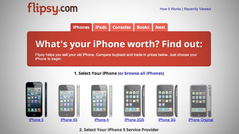 Illustration for article titled Flipsy Finds the Right Sale Price for Your Used iPhones, iPads, Game Consoles, and Books