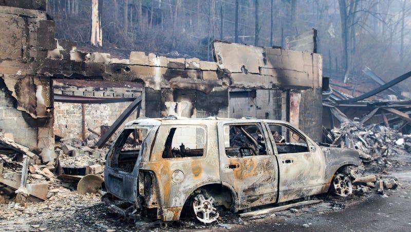 Gatlinburg, Tennessee on Tuesday, Nov. 29. Image via Erik Schelzig/AP Photo.