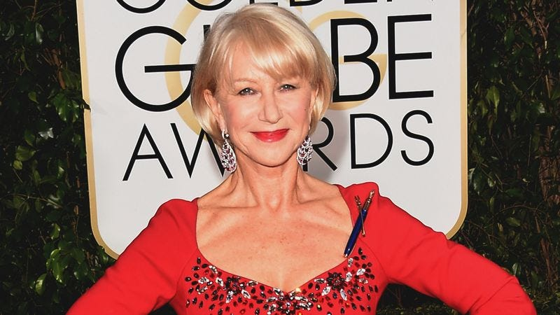 Illustration for article titled Style Icon? Helen Mirren Looks Perfect Even When Wrestling This Vagrant
