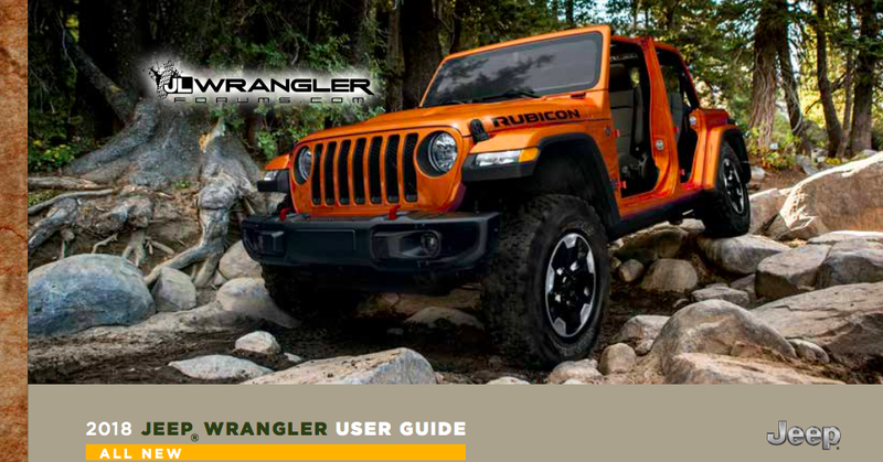 Leaked: 2018 Jeep JL Wrangler Owner's Manual/User Guide
