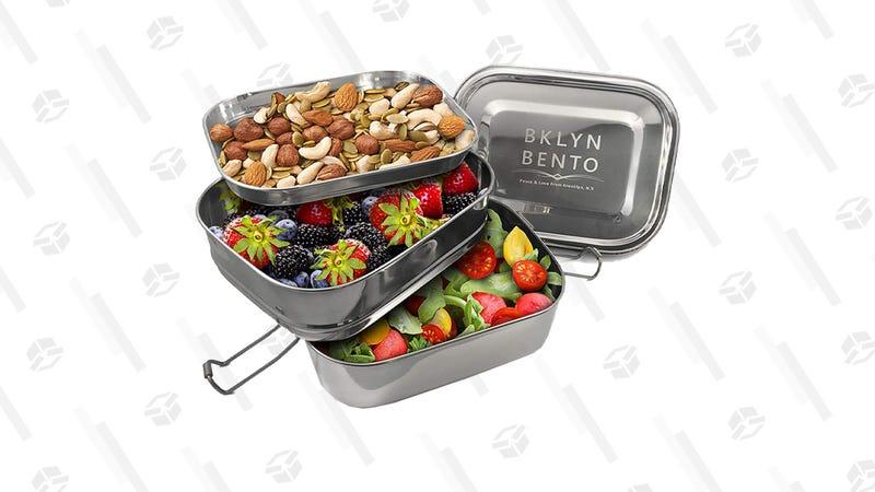 Bklyn Bento Stainless Steel Bento Box Lunch Box   $25   Amazon