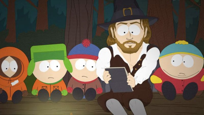 "Illustration for article titled South Park: ""A History Channel Thanksgiving"""
