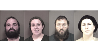 Mordechai Breskin, Jocheved Breskin, Zalmen Sorotzkin and Tzipporah Sorotzkin face state charges that they allegedly defrauded public assistance programs. (Ocean County, N.J., Prosecutor's Office)