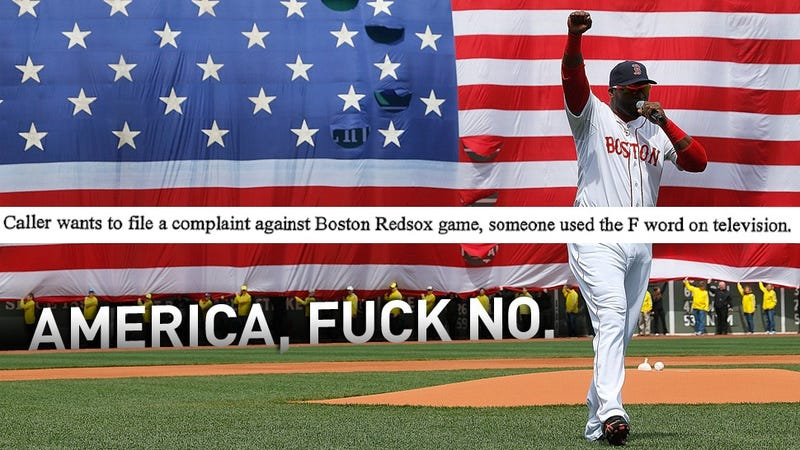 Illustration for article titled Every Viewer Complaint About Big Papi's Post-Bombing Swear Word