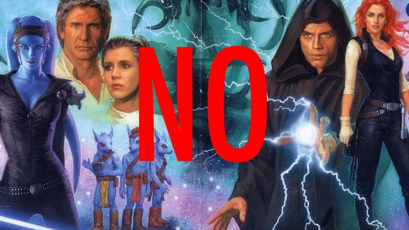 Illustration for article titled You can probably forget about the new Star Wars movies using the Expanded Universe