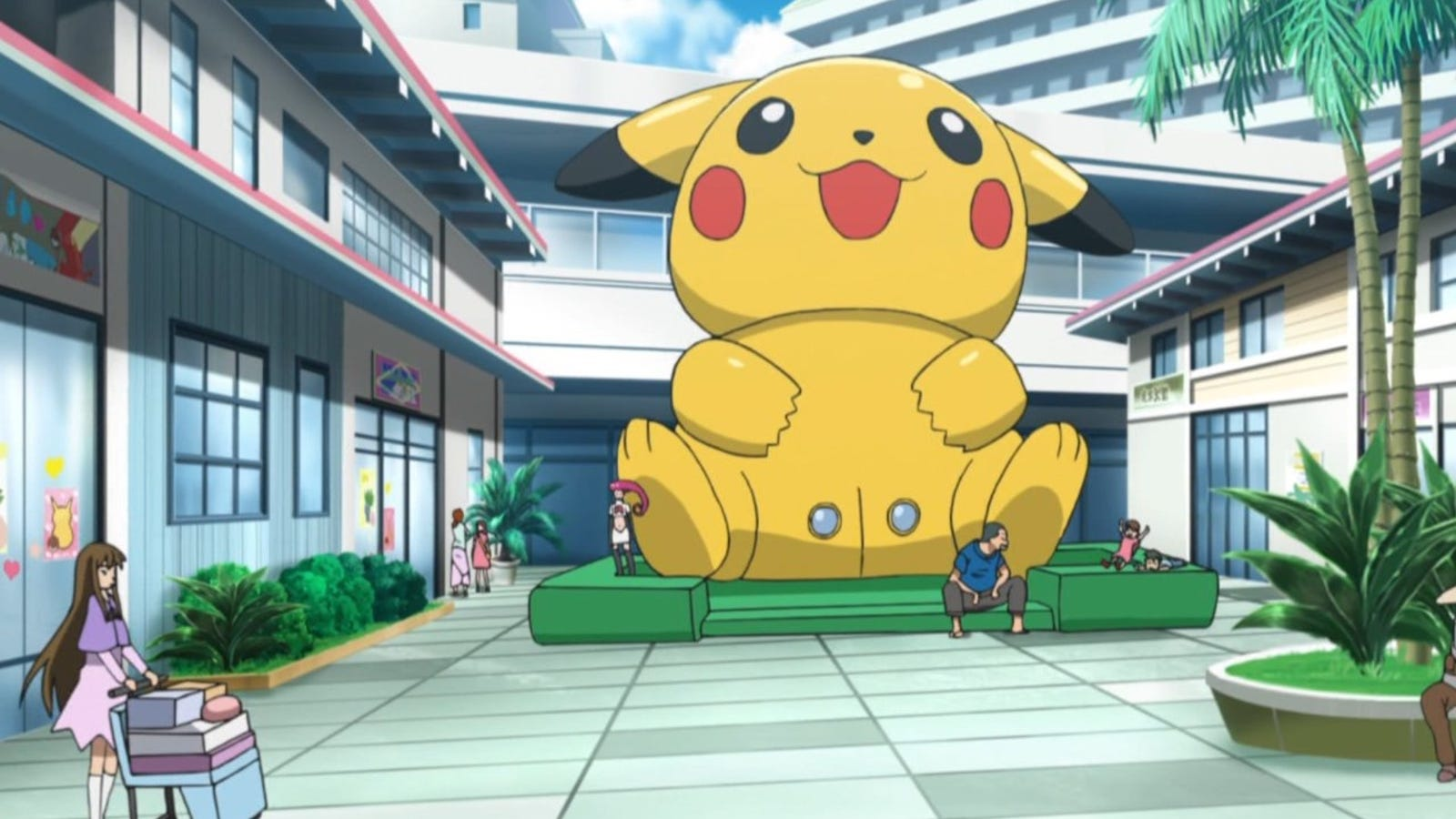 pikachu's vagina bounce house makes anime cameo