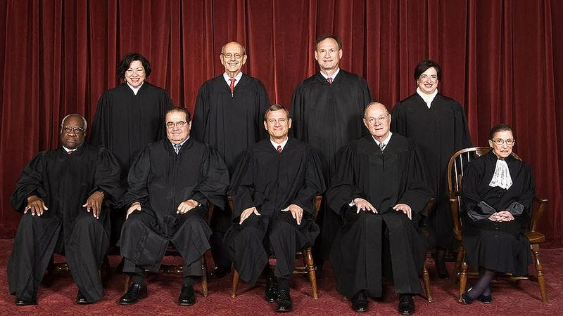 The Supreme Court, when it last had nine justices