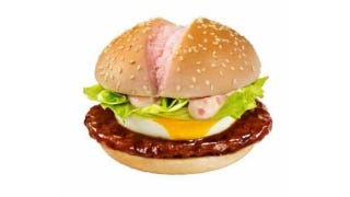 Illustration for article titled McDonald's New Cherry Blossom Burger Has Pink Buns