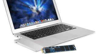 Illustration for article titled The Mercury Aura Replaces Your MacBook's SSD, Turns Your Old SSD Into an External Drive