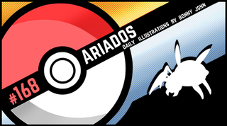 Illustration for article titled Artful Ariados!  Pokemon One a Day, Series 2!