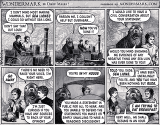 Illustration for article titled Sealioning: Notallman's partner in crime