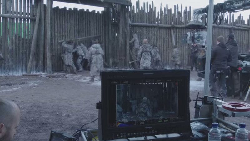 """Illustration for article titled Behind the scenes of Game Of Thrones' """"Massacre At Hardhome"""""""