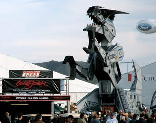 Illustration for article titled Barrett-Jackson: Robosaurus, Sells For $575,000, Promises Not To Eat Your Collector Cars