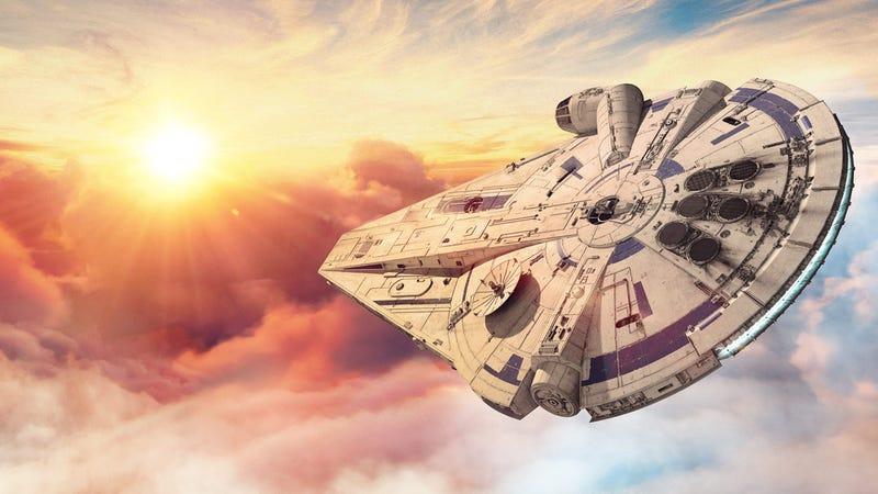 Illustration for article titled Estos son los extraños diseños que pudo haber tenido el Halcón Milenario en Solo: A Star Wars Story