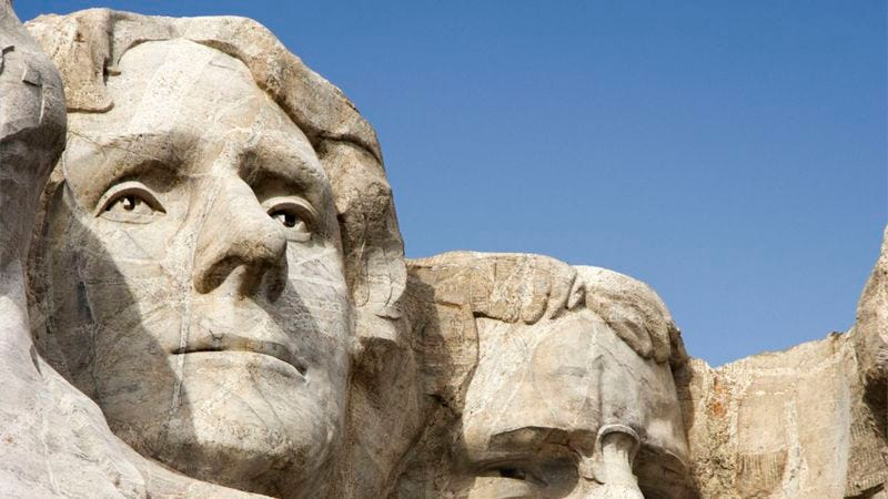 Illustration for article titled 9 Stunning Pics That Prove Thomas Jefferson's Mount Rushmore Head Needs To Be The Next Bachelor