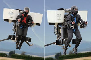Illustration for article titled Martin Jetpack: How Much Would You Pay to Be a Real Life Test Pilot?