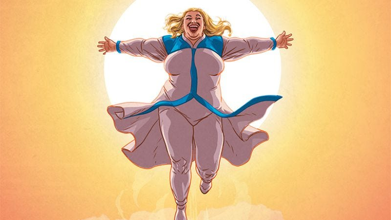 Illustration for article titled Exclusive Valiant preview: Faith grows up with her own solo miniseries