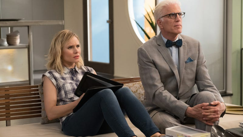 Kristen Bell and Ted Danson in The Good Place. (Photo: Colleen Hayes/NBC)
