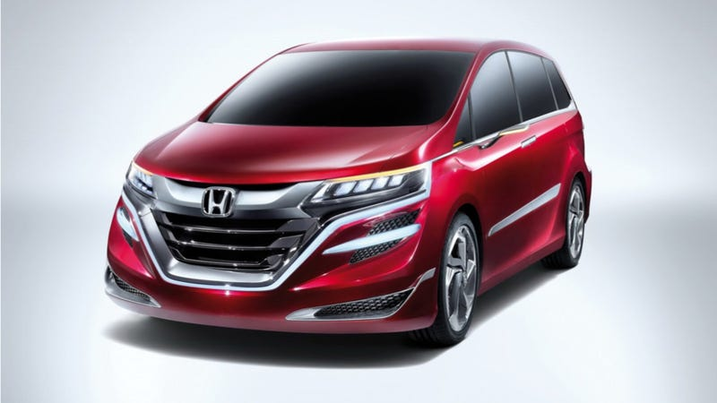 Illustration for article titled The Honda Concept M Is The Most Terrifying Minivan I Have Ever Seen
