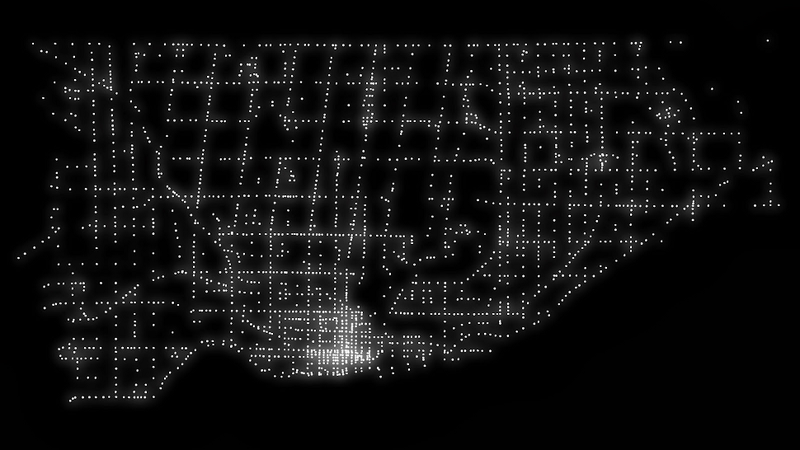 Illustration for article titled Can you guess how this unique image of Toronto was put together?