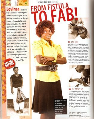 "Illustration for article titled African Woman Magazine Causing A Furor With ""Fistula To Fab!"" Makeover"