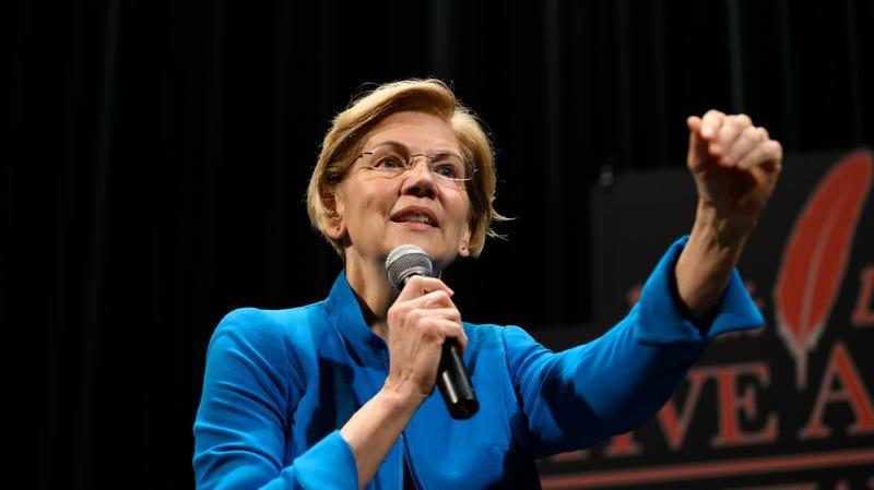Sen. Elizabeth Warren is down.