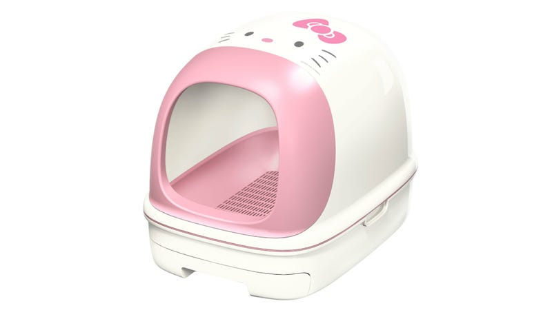 A hello kitty toilet just for cats for Commode kitty