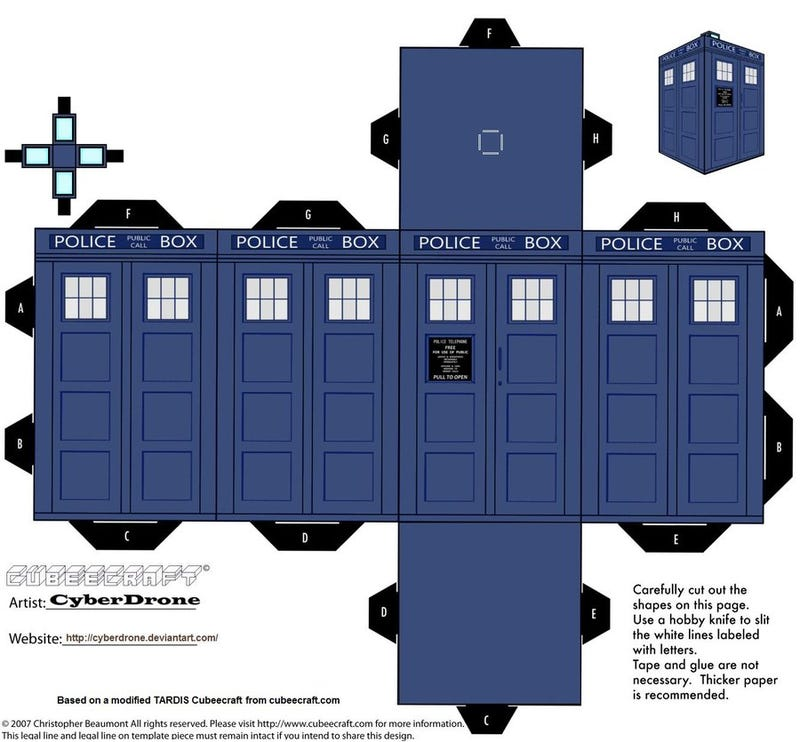 Print Out And Fold Your Own Paper TARDIS Daleks