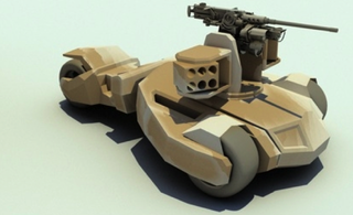 Illustration for article titled An experimental tank design inspired by The Dark Knight's Batmobile