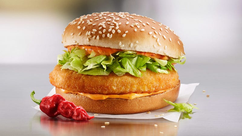Illustration for article titled McDonald's Canada flips U.S. the bird with 3 progressively spicier McChicken sandwiches