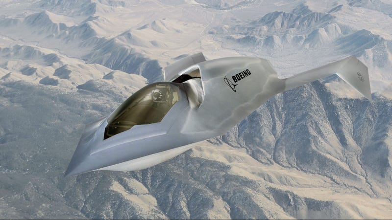 Illustration for article titled Boeing's Bird of Prey: A Prototype Jet Worthy of the Klingon Empire