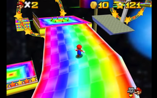 Illustration for article titled Someone Turned Rainbow Road Into A Super Mario 64 Level