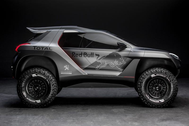 Illustration for article titled Peugeot's Dakar Buggy Has Been Leaked. It's Awesome.