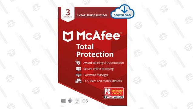 Protect Unlimited Devices for a Year With McAfee Total Protection, $30 Today Only