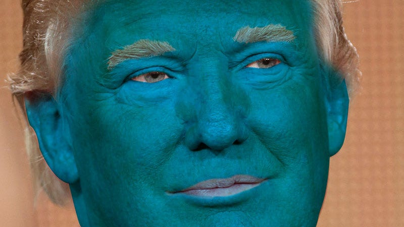 Image result for blue trump