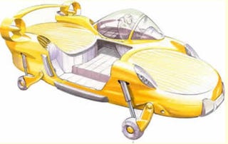 Illustration for article titled Flying Car, Sort of: First X-Hawk Could Be Ready By 2009