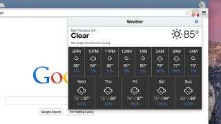 Illustration for article titled Weather for Chrome Puts Your Local Forecast in a Chrome Toolbar Button