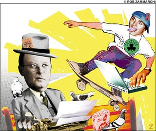 Illustration for article titled The Basement Tapes: A Compendium Of Sportswriters' Hacky Jokes About Bloggers