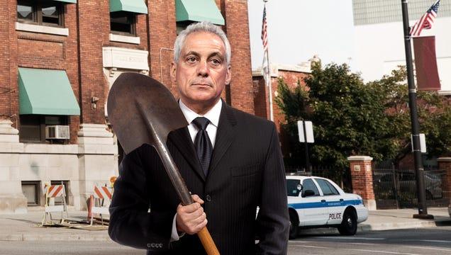 Rahm Emanuel Breaks Ground On New Jason Van Dyke Police Academy