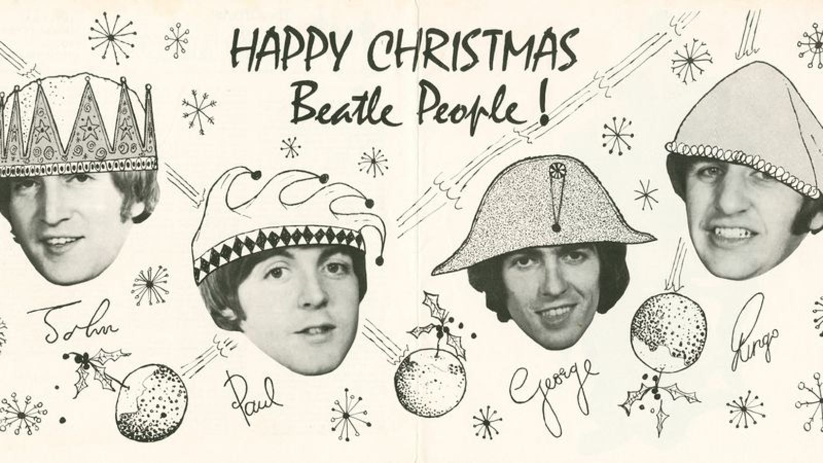 The Beatles\' Christmas albums are wacky and whimsical, until they\'re not
