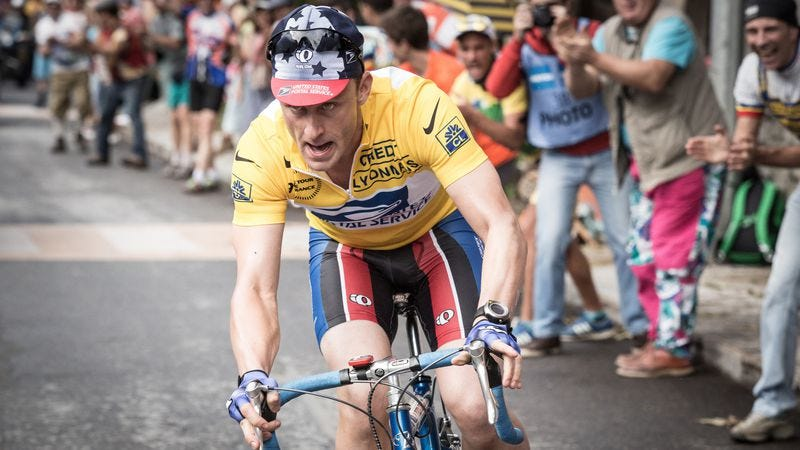 Illustration for article titled Lance Armstrong is boldly unsympathetic in the otherwise rote The Program