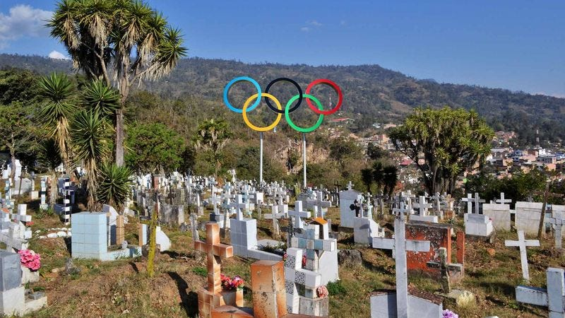 Illustration for article titled Officials Worried Olympic Cemetery Won't Be Completed In Time For Games