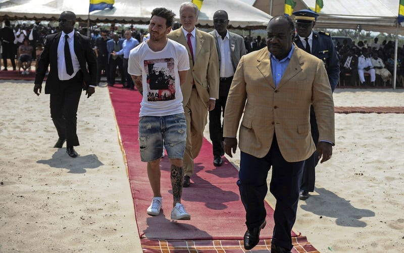 Illustration for article titled Lionel Messi's PR Trip To Africa Did Not Go Well