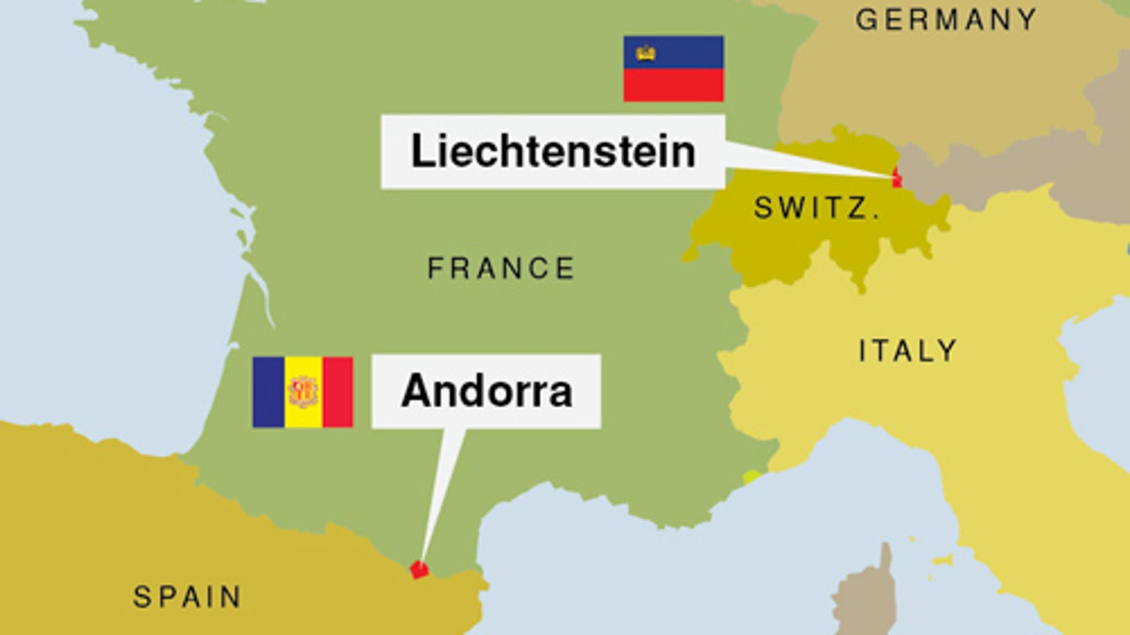 Map Of Spain France And Andorra.Liechtenstein Andorra Forced To Fight By Larger Countries