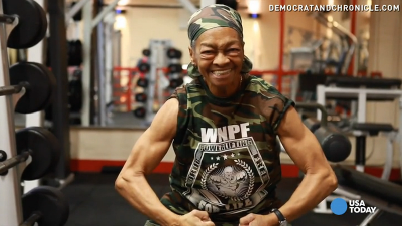 Illustration for article titled 77-Year-Old Competitive Power Lifter Is Inspiring, Kind of Terrifying