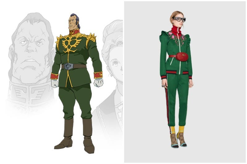 Illustration for article titled Who Wore It Better, Gundam Or Gucci?