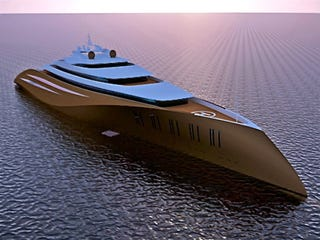 Illustration for article titled 200-Meter-Long Superyacht Makes All Billionaires' Existing Yachts Look Merely Clitoral